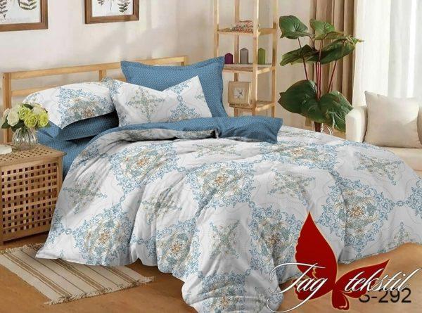 Комплект постельного белья с компаньоном S292  ПОСТЕЛЬНОЕ БЕЛЬЕ ТМ TAG > Семейные > Сатин люкс ТМ TAG