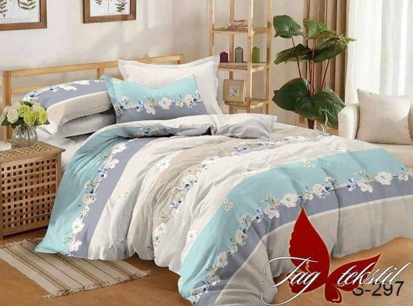 Комплект постельного белья с компаньоном S297  ПОСТЕЛЬНОЕ БЕЛЬЕ ТМ TAG > Семейные > Сатин люкс ТМ TAG