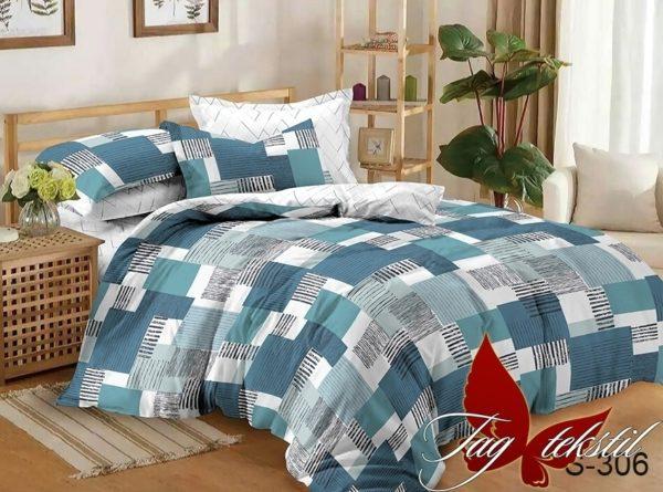 Комплект постельного белья с компаньоном S306  ПОСТЕЛЬНОЕ БЕЛЬЕ ТМ TAG > Семейные > Сатин люкс ТМ TAG