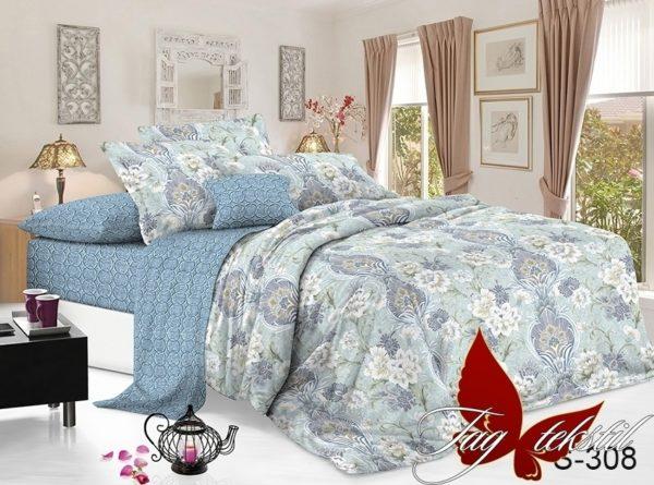 Комплект постельного белья с компаньоном S308  ПОСТЕЛЬНОЕ БЕЛЬЕ ТМ TAG > 1.5-спальные > Сатин люкс ТМ TAG