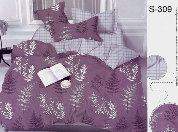 Комплект постельного белья с компаньоном S309  ПОСТЕЛЬНОЕ БЕЛЬЕ ТМ TAG > Семейные > Сатин люкс ТМ TAG