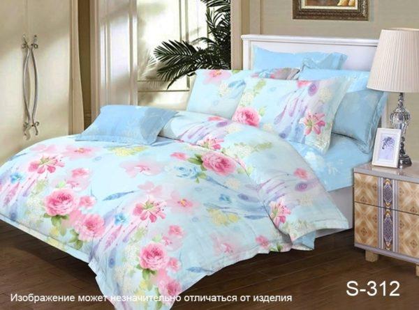 Комплект постельного белья с компаньоном S312  ПОСТЕЛЬНОЕ БЕЛЬЕ ТМ TAG > 2-спальные > Сатин люкс ТМ TAG