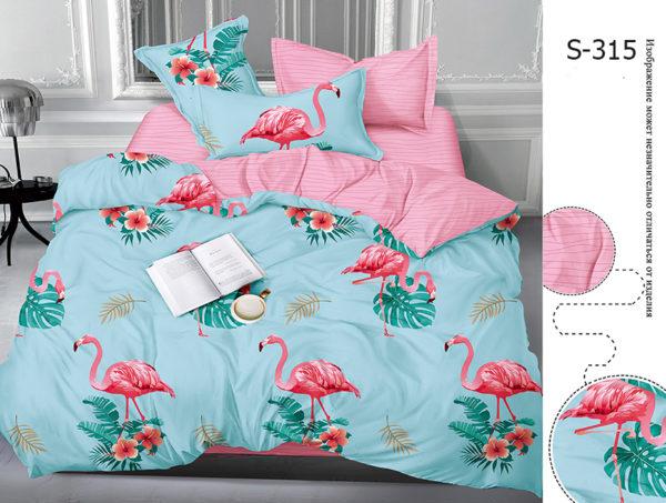Комплект постельного белья с компаньоном S315  ПОСТЕЛЬНОЕ БЕЛЬЕ ТМ TAG > 2-спальные > Сатин люкс ТМ TAG