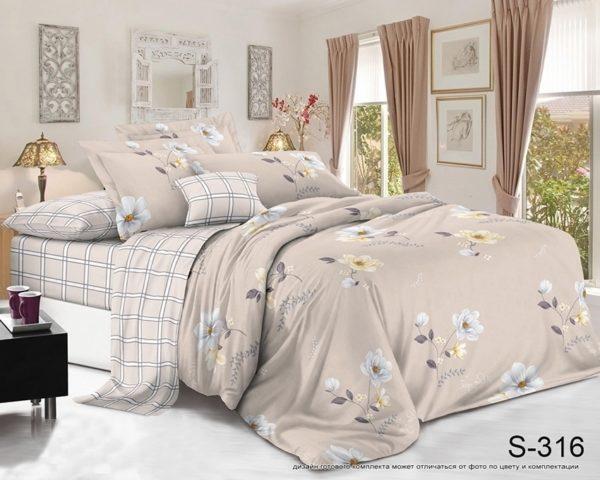 Комплект постельного белья с компаньоном S316  ПОСТЕЛЬНОЕ БЕЛЬЕ ТМ TAG > 2-спальные > Сатин люкс ТМ TAG