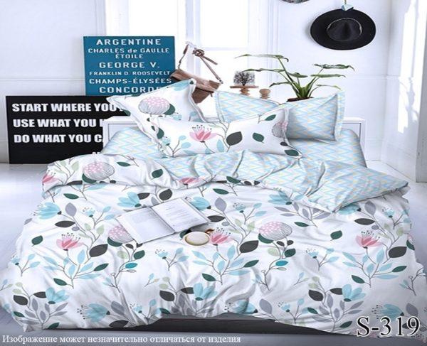 Комплект постельного белья с компаньоном S319  ПОСТЕЛЬНОЕ БЕЛЬЕ ТМ TAG > Семейные > Сатин люкс ТМ TAG