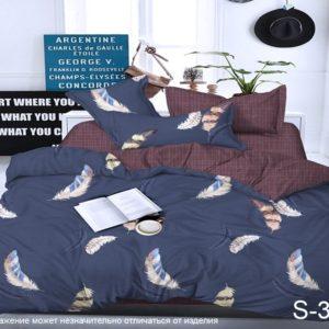 Комплект постельного белья с компаньоном S320  ПОСТЕЛЬНОЕ БЕЛЬЕ ТМ TAG > Семейные > Сатин люкс ТМ TAG