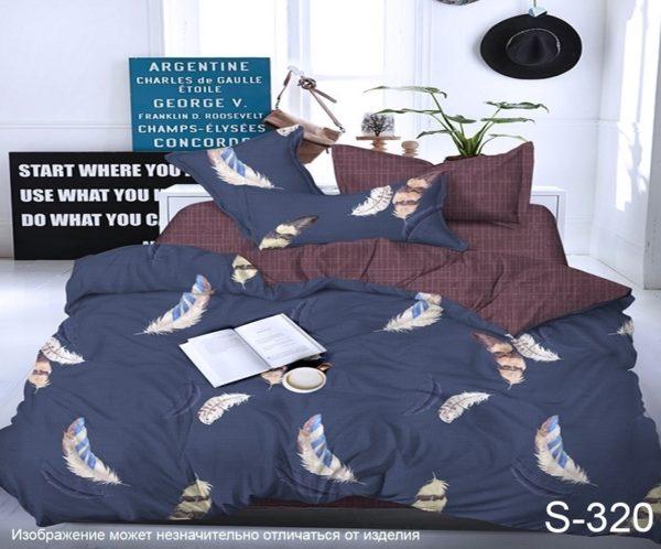 Комплект постельного белья с компаньоном S320  ПОСТЕЛЬНОЕ БЕЛЬЕ ТМ TAG > Евро > Сатин люкс ТМ TAG