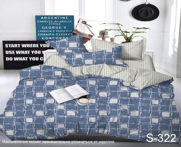 Комплект постельного белья с компаньоном S322  ПОСТЕЛЬНОЕ БЕЛЬЕ ТМ TAG > Семейные > Сатин люкс ТМ TAG