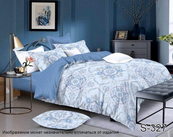 Комплект постельного белья с компаньоном S327  ПОСТЕЛЬНОЕ БЕЛЬЕ ТМ TAG > 1.5-спальные > Сатин люкс ТМ TAG