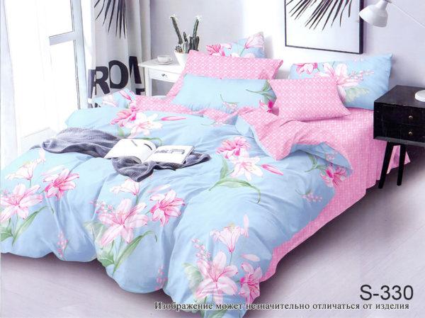 Комплект постельного белья с компаньоном S330  ПОСТЕЛЬНОЕ БЕЛЬЕ ТМ TAG > 2-спальные > Сатин люкс ТМ TAG