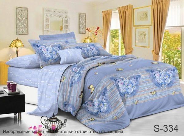 Комплект постельного белья с компаньоном S334  ПОСТЕЛЬНОЕ БЕЛЬЕ ТМ TAG > 2-спальные > Сатин люкс ТМ TAG