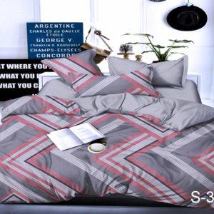Комплект постельного белья с компаньоном S339  ПОСТЕЛЬНОЕ БЕЛЬЕ ТМ TAG > Семейные > Сатин люкс ТМ TAG