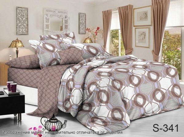 Комплект постельного белья с компаньоном S341  ПОСТЕЛЬНОЕ БЕЛЬЕ ТМ TAG > 2-спальные > Сатин люкс ТМ TAG