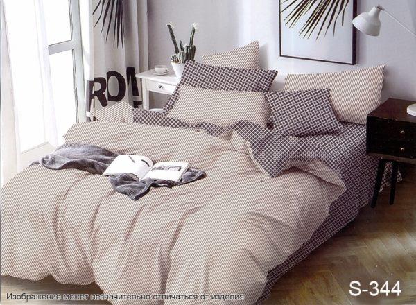 Комплект постельного белья с компаньоном S344  ПОСТЕЛЬНОЕ БЕЛЬЕ ТМ TAG > 2-спальные > Сатин люкс ТМ TAG