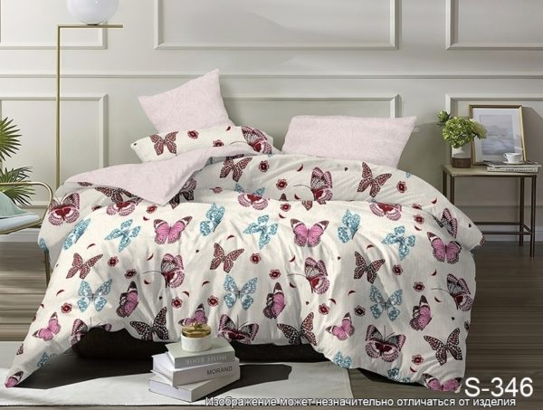 Комплект постельного белья с компаньоном S346  ПОСТЕЛЬНОЕ БЕЛЬЕ ТМ TAG > 2-спальные > Сатин люкс ТМ TAG