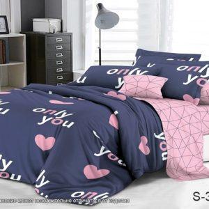 Комплект постельного белья с компаньоном S348  ПОСТЕЛЬНОЕ БЕЛЬЕ ТМ TAG > 1.5-спальные > Сатин люкс ТМ TAG