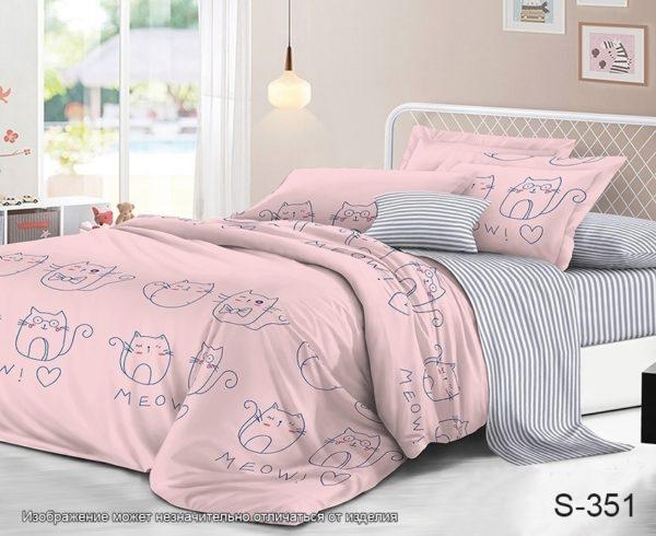 Комплект постельного белья с компаньоном S351  ПОСТЕЛЬНОЕ БЕЛЬЕ ТМ TAG > 1.5-спальные > Сатин люкс ТМ TAG