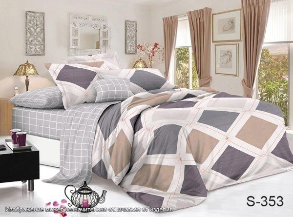 Комплект постельного белья с компаньоном S353  ПОСТЕЛЬНОЕ БЕЛЬЕ ТМ TAG > 2-спальные > Сатин люкс ТМ TAG
