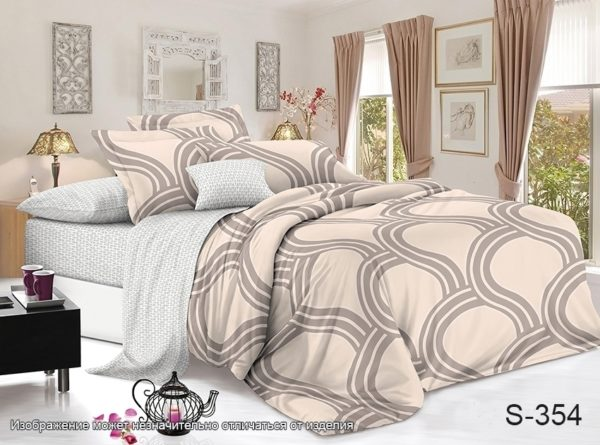 Комплект постельного белья с компаньоном S354  ПОСТЕЛЬНОЕ БЕЛЬЕ ТМ TAG > 2-спальные > Сатин люкс ТМ TAG