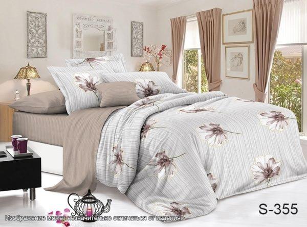 Комплект постельного белья с компаньоном S355  ПОСТЕЛЬНОЕ БЕЛЬЕ ТМ TAG > Семейные > Сатин люкс ТМ TAG