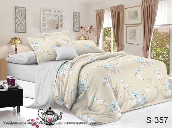 Комплект постельного белья с компаньоном S357  ПОСТЕЛЬНОЕ БЕЛЬЕ ТМ TAG > 2-спальные > Сатин люкс ТМ TAG
