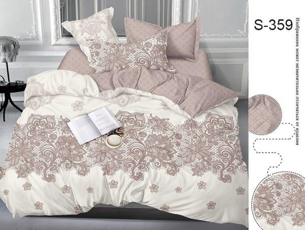 Комплект постельного белья с компаньоном S359  ПОСТЕЛЬНОЕ БЕЛЬЕ ТМ TAG > Евро > Сатин люкс ТМ TAG