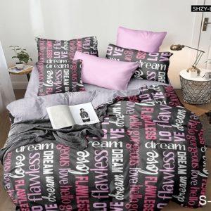 Комплект постельного белья с компаньоном S379  ПОСТЕЛЬНОЕ БЕЛЬЕ ТМ TAG > Семейные > Сатин люкс ТМ TAG
