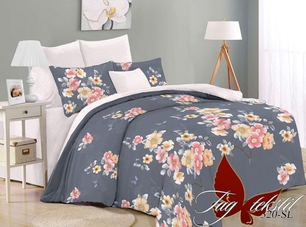 Комплект постельного белья с компаньоном SL320  ПОСТЕЛЬНОЕ БЕЛЬЕ ТМ TAG > Семейные > Поплин