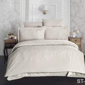 Комплект постельного белья ST-1001  ПОСТЕЛЬНОЕ БЕЛЬЕ ТМ TAG > 2-спальные > Страйп-сатин