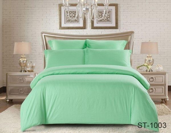 Комплект постельного белья ST-1003  ПОСТЕЛЬНОЕ БЕЛЬЕ ТМ TAG > 2-спальные > Страйп-сатин
