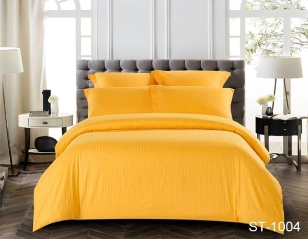 Комплект постельного белья ST-1004  ПОСТЕЛЬНОЕ БЕЛЬЕ ТМ TAG > 2-спальные > Страйп-сатин
