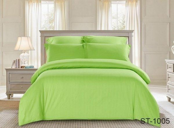 Комплект постельного белья ST-1005  ПОСТЕЛЬНОЕ БЕЛЬЕ ТМ TAG > 2-спальные > Страйп-сатин