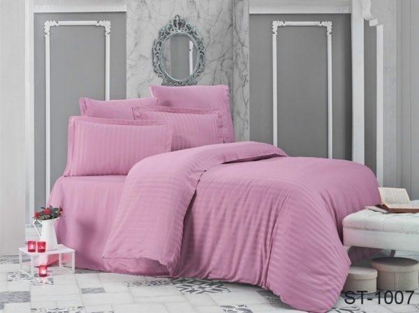 Комплект постельного белья ST-1007  ПОСТЕЛЬНОЕ БЕЛЬЕ ТМ TAG > Семейные > Страйп-сатин