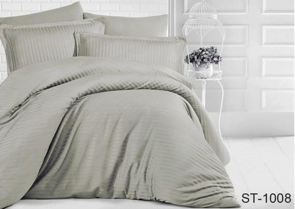 Комплект постельного белья ST-1008  ПОСТЕЛЬНОЕ БЕЛЬЕ ТМ TAG > 2-спальные > Страйп-сатин