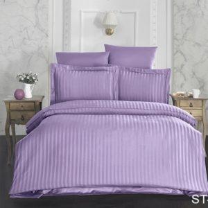 Комплект постельного белья ST-1009  ПОСТЕЛЬНОЕ БЕЛЬЕ ТМ TAG > 2-спальные > Страйп-сатин