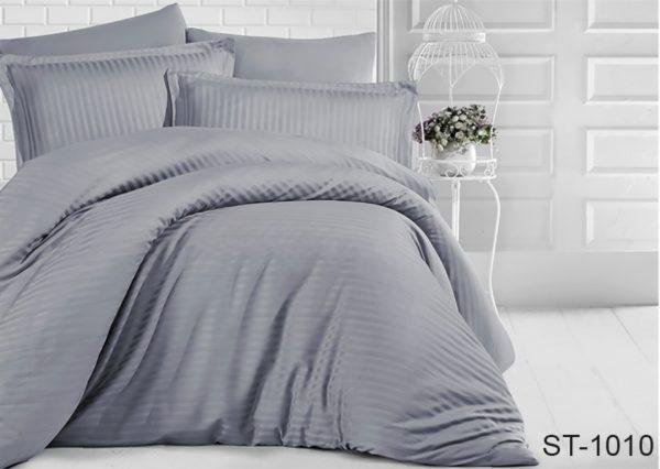 Комплект постельного белья ST-1010  ПОСТЕЛЬНОЕ БЕЛЬЕ ТМ TAG > 2-спальные > Страйп-сатин