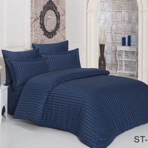 Комплект постельного белья ST-1012  ПОСТЕЛЬНОЕ БЕЛЬЕ ТМ TAG > 2-спальные > Страйп-сатин