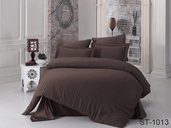 Комплект постельного белья ST-1013  ПОСТЕЛЬНОЕ БЕЛЬЕ ТМ TAG > 2-спальные > Страйп-сатин