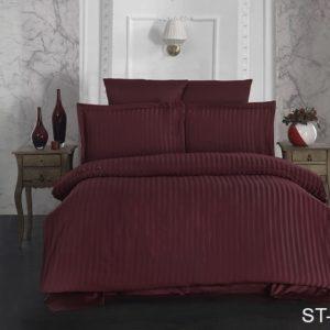 Комплект постельного белья ST-1014  ПОСТЕЛЬНОЕ БЕЛЬЕ ТМ TAG > 2-спальные > Страйп-сатин