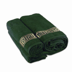 Полотенце махровое Versace зеленое  Полотенца > 40*70 от 1 ед