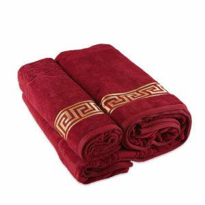 Полотенце махровое Versace красное  Полотенца > 50*90 от 1 ед