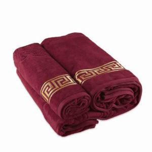 Полотенце махровое Versace бордо  Полотенца > 50*90 от 1 ед