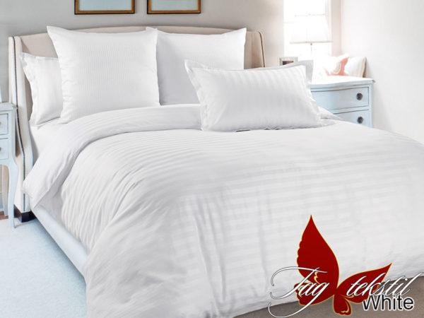 Комплект постельного белья White  ПОСТЕЛЬНОЕ БЕЛЬЕ ТМ TAG > 2-спальные > Страйп-сатин