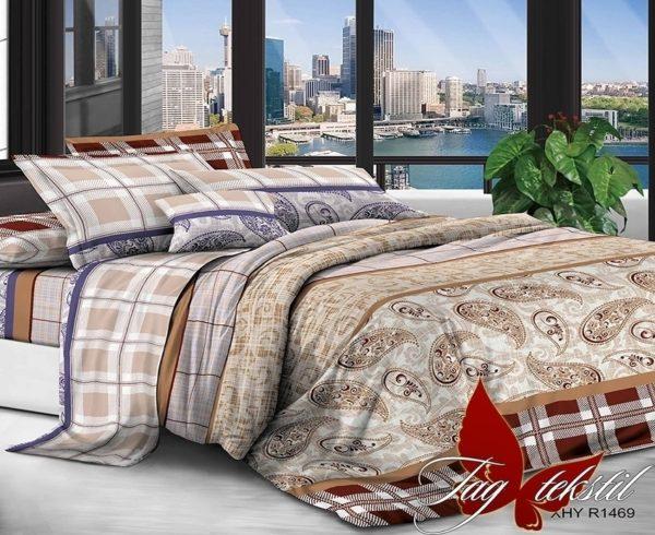 Комплект постельного белья XHY1469-2  ПОСТЕЛЬНОЕ БЕЛЬЕ ТМ TAG > Евро > Поликоттон 3D