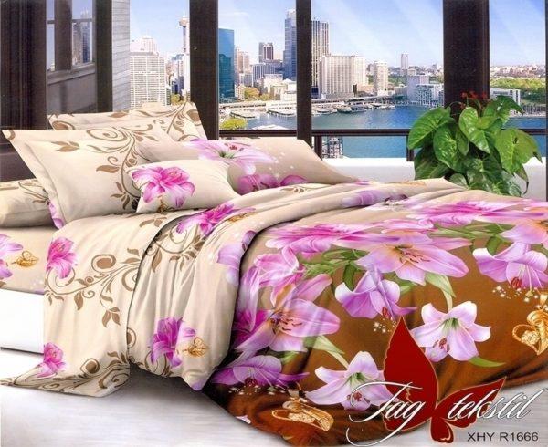 Комплект постельного белья XHY1666  ПОСТЕЛЬНОЕ БЕЛЬЕ ТМ TAG > Евро > Поликоттон 3D