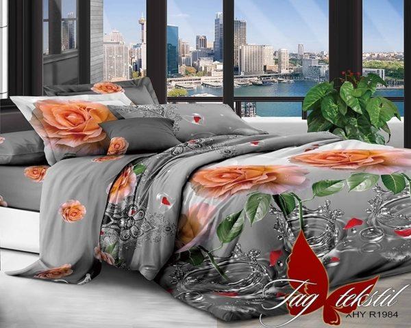 Комплект постельного белья XHY1984  ПОСТЕЛЬНОЕ БЕЛЬЕ ТМ TAG > Евро > Поликоттон 3D
