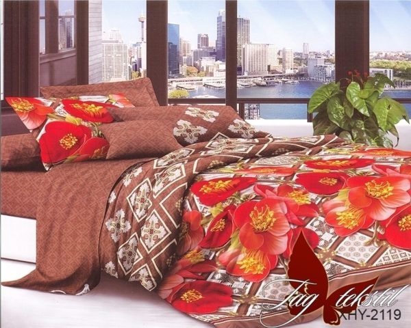 Комплект постельного белья XHY2119  ПОСТЕЛЬНОЕ БЕЛЬЕ ТМ TAG > Семейные > Поликоттон 3D