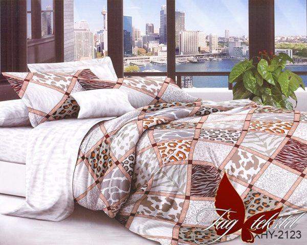 Комплект постельного белья XHY2123  ПОСТЕЛЬНОЕ БЕЛЬЕ ТМ TAG > Евро > Поликоттон 3D