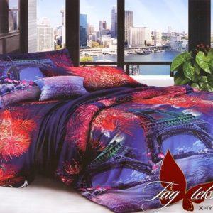 Комплект постельного белья XHY2124  ПОСТЕЛЬНОЕ БЕЛЬЕ ТМ TAG > Семейные > Поликоттон 3D