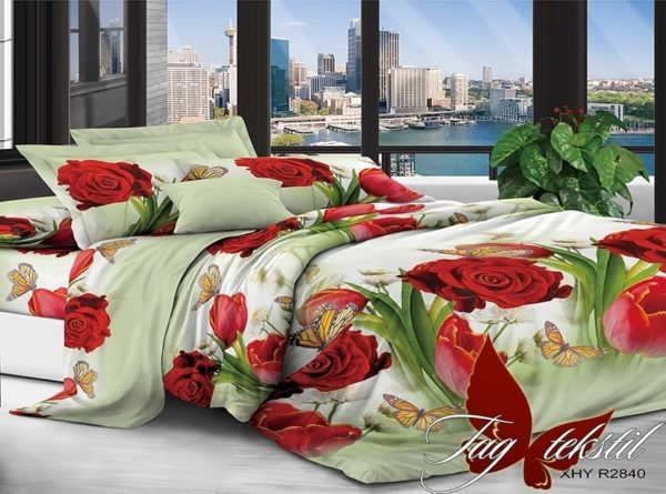 Комплект постельного белья XHY2840  ПОСТЕЛЬНОЕ БЕЛЬЕ ТМ TAG > Семейные > Поликоттон 3D